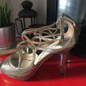 Jimmy choo lance gold lame heels